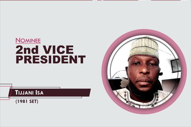 2nd Vice President - 2021-2023 - Tijjani Isa