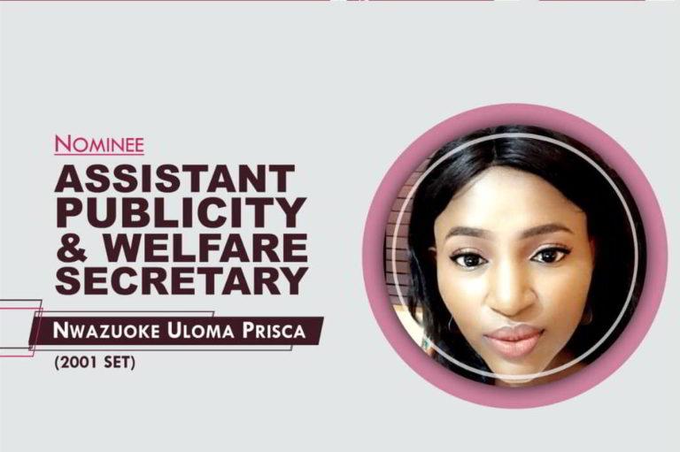 Assistant Publicity and Welfare Secretary - 2021-2023 - Prisca Uloma Nwazuoke
