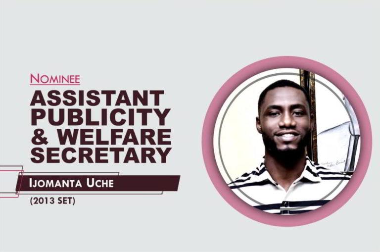 Assistant Publicity and Welfare Secretary - 2021-2023 - Uche Ijomanta