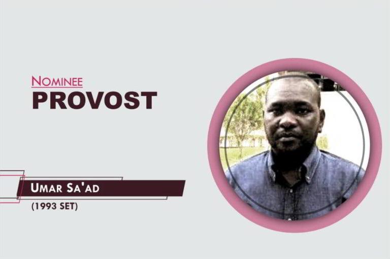 Provost - 2021-2023 - Umar Sa'ad