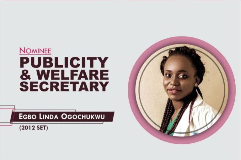 Publicity and Welfare Secretary - 2021-2023 - Egbo Linda Ogochukwu