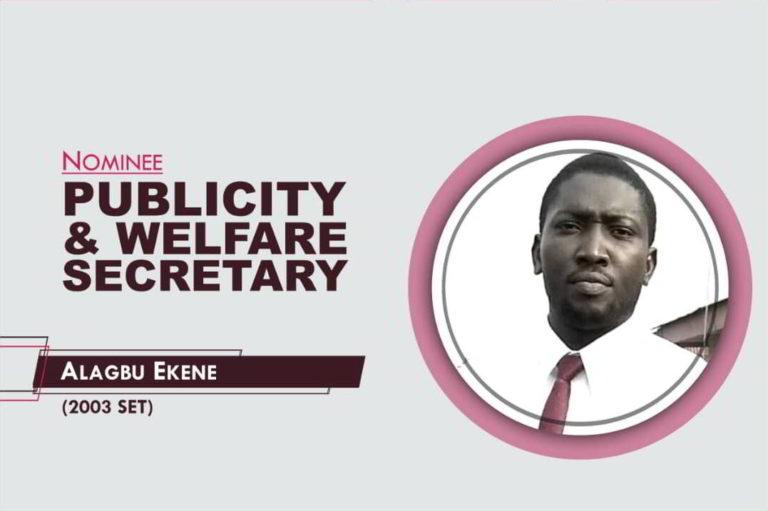 Publicity and Welfare Secretary - 2021-2023 - Ekene Alagbu