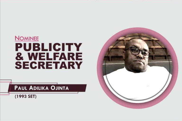Publicity and Welfare Secretary - 2021-2023 - Paul Ojinta