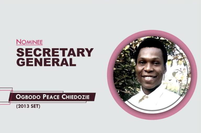Secretary General - 2021-2023 - Chiedozie Peace Ogbodo